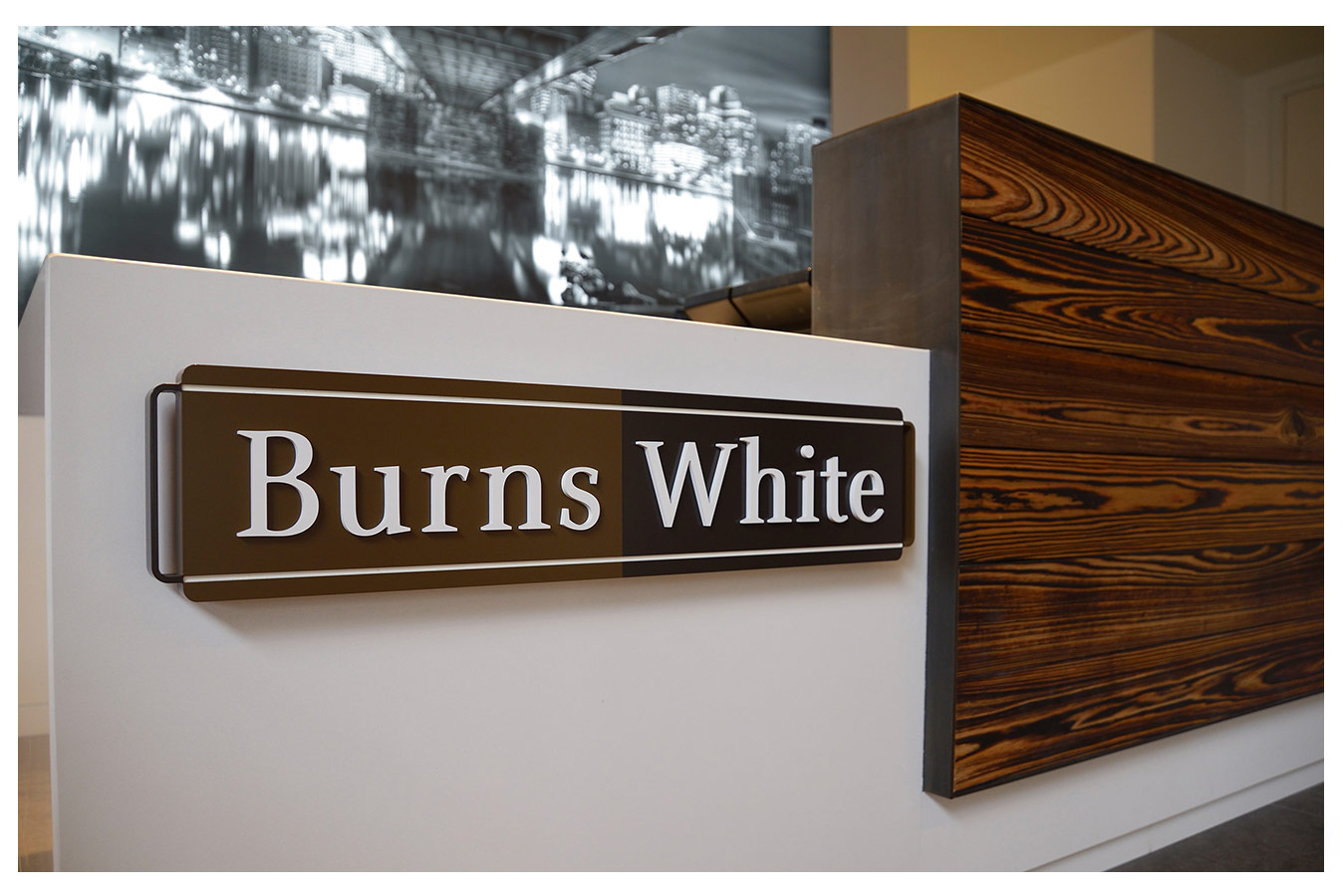 Burns White - Logo at Reception Desk