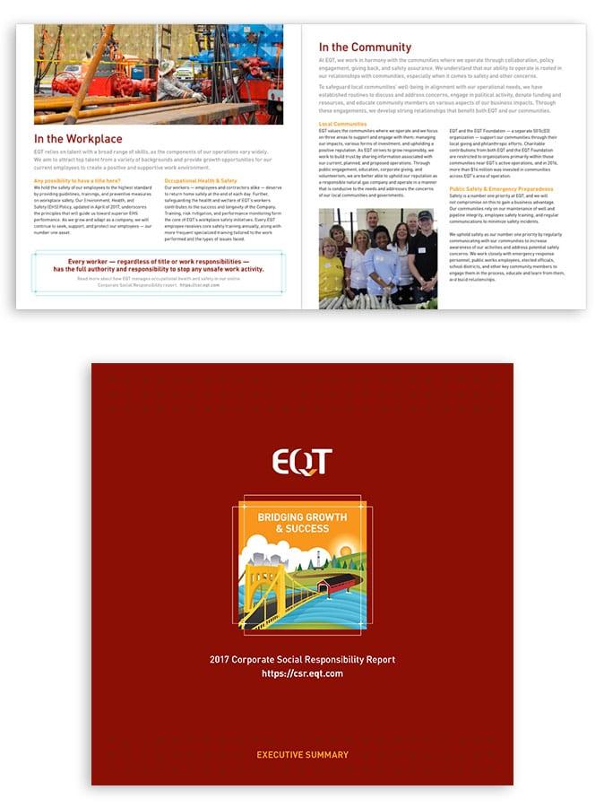 EQT Corporate Social Responsibility Report Executive Summary