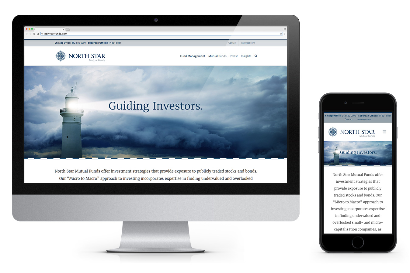 North Star Mutual Funds Site Desktop + Mobile