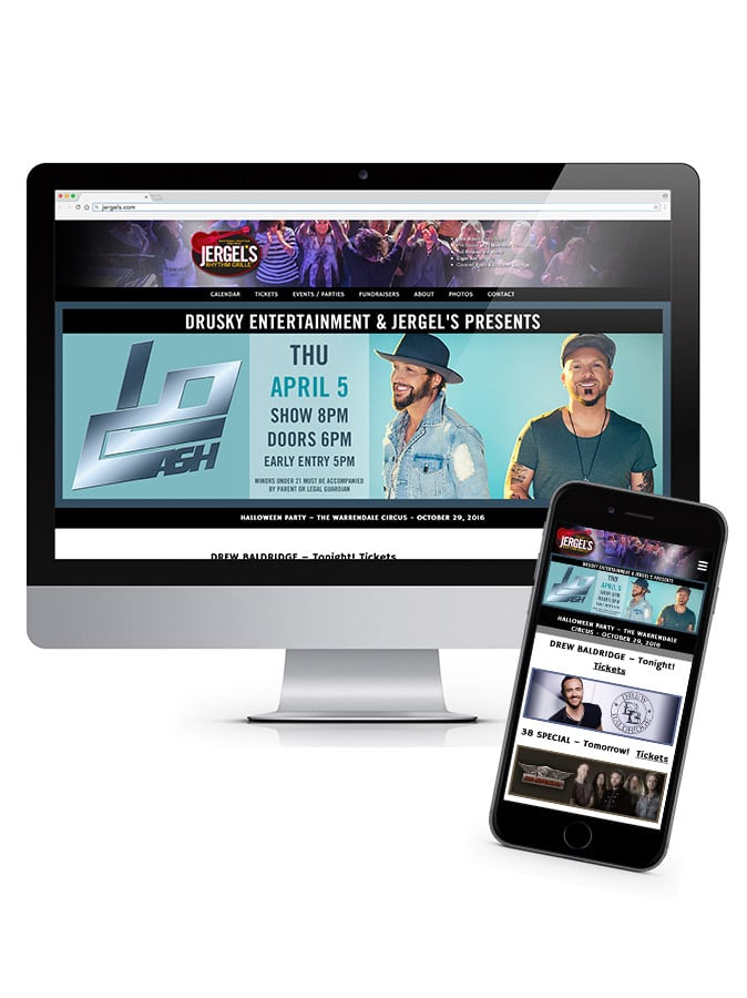 Jergel's Rhythm Grille - Website