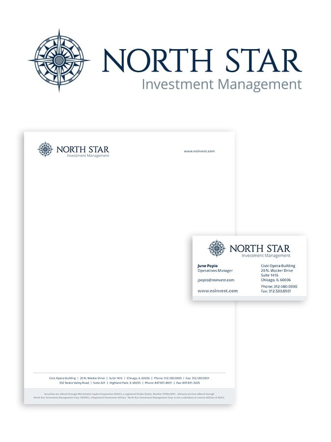 North Star Investment Management Logo and Identity Package