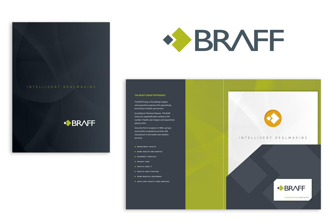 The BRAFF Group Logo and Pocket Folder