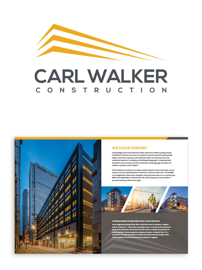 Carl Walker Construction Logo and Brochure