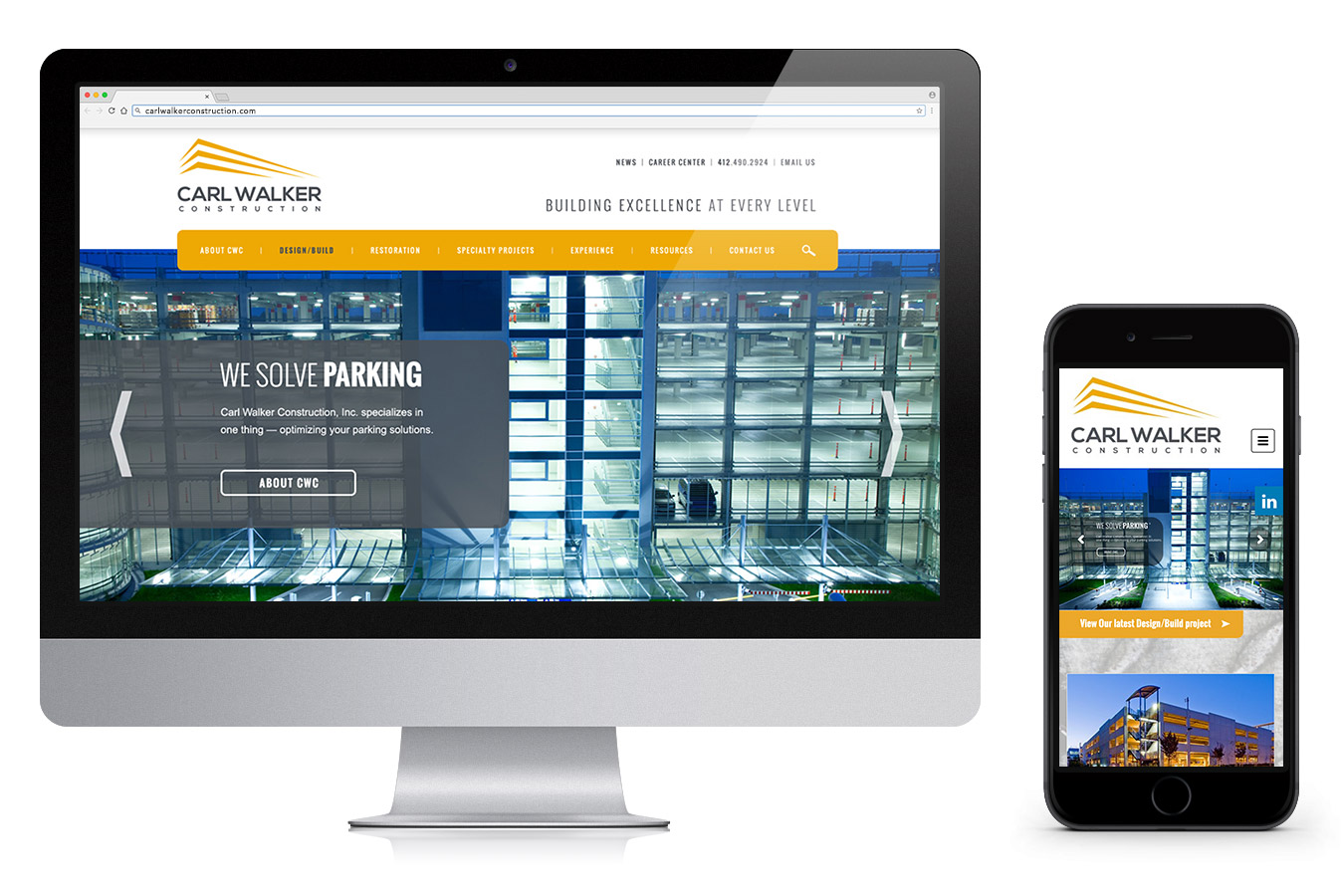 Carl Walker Construction Website