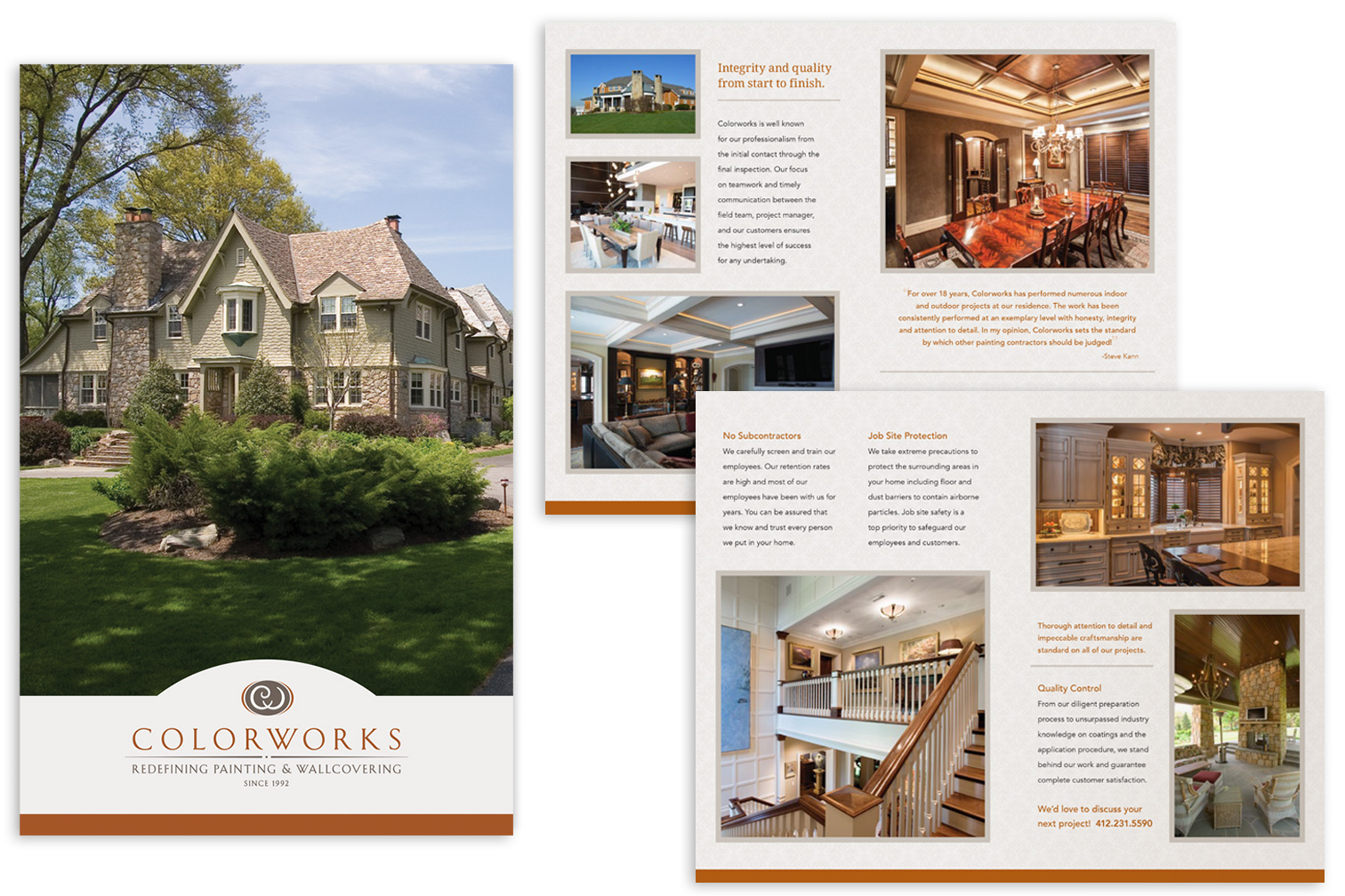 Brochure for Colorworks Painting